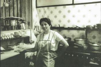 Inés Llanos cocinando Restaurante Zara