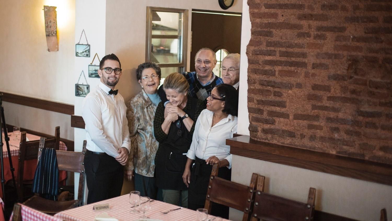Restaurante Zara, padres e hijos
