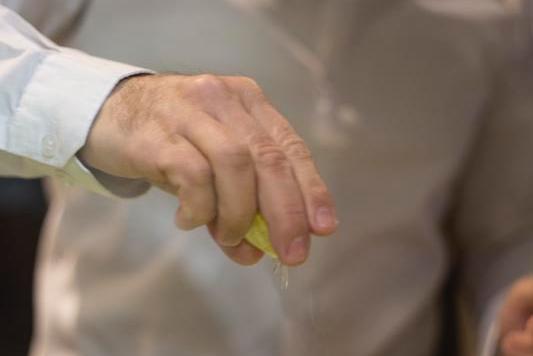 Limón sobre daiquiri